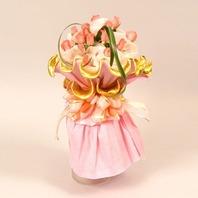 라운드장미꽃다발
